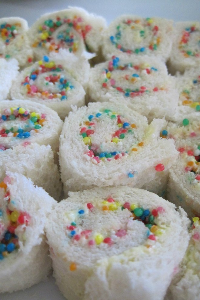 fairy bread rolled up