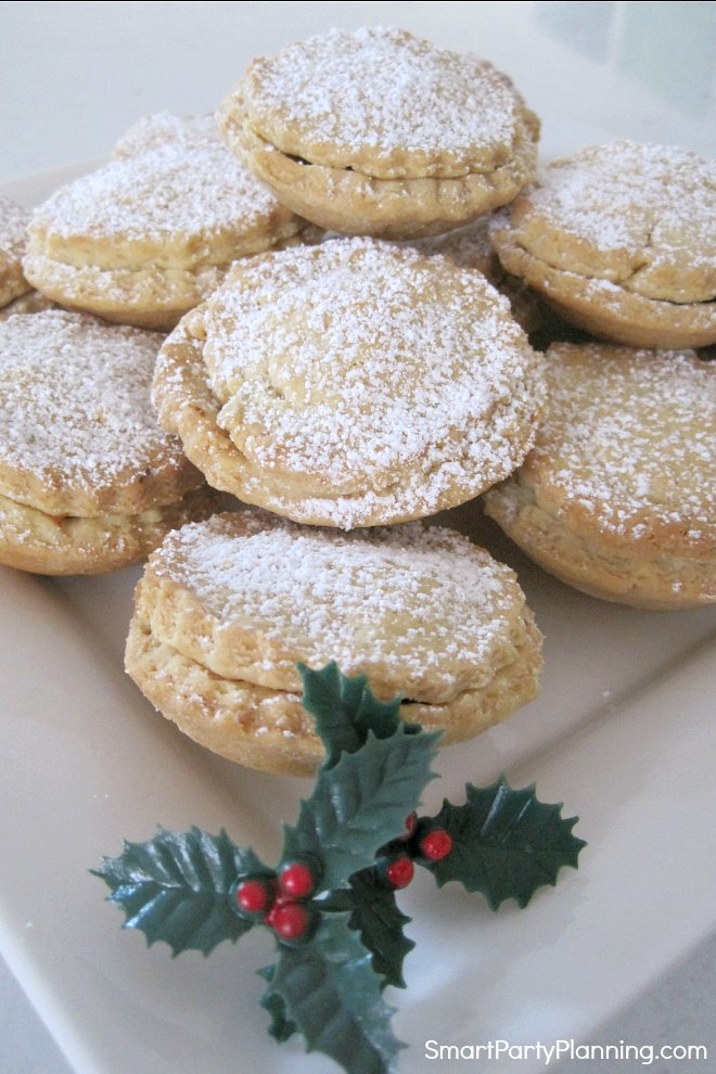 Plate of fruit mince pies