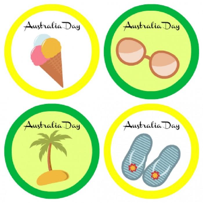 Australia Day Cupcake Printables