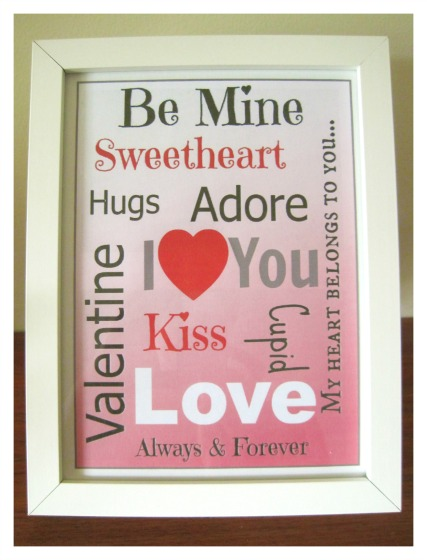 Subway art is a great way to decorate your home this Valentine's Day. A FREE printable makes for easy decoration or a wonderful gift.
