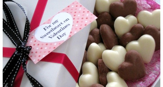 Box of Heart Shaped Chocolates