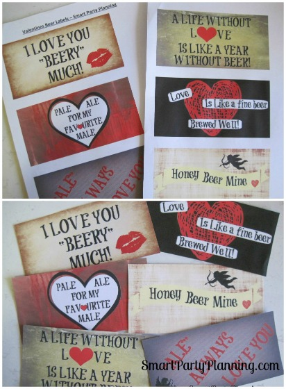 It's just a picture of Unforgettable Free Printable Valentine Beer Labels