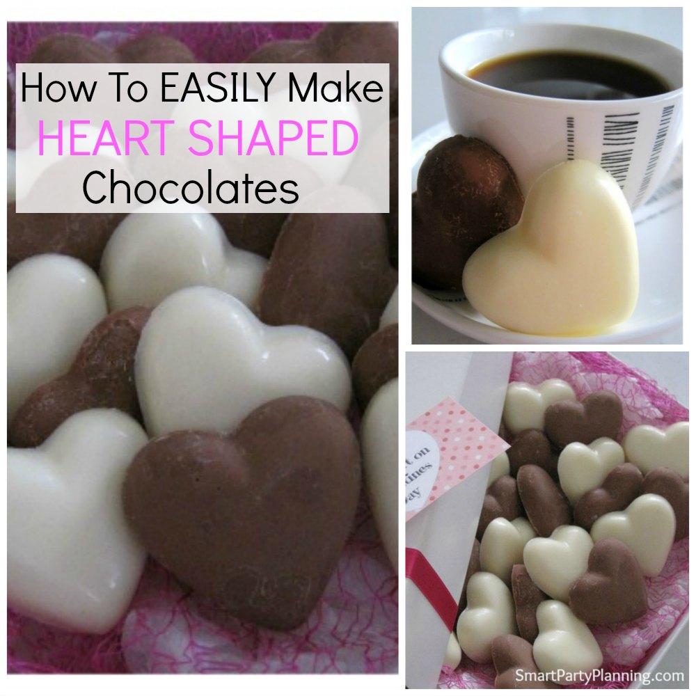 How to make heart shaped chocolates
