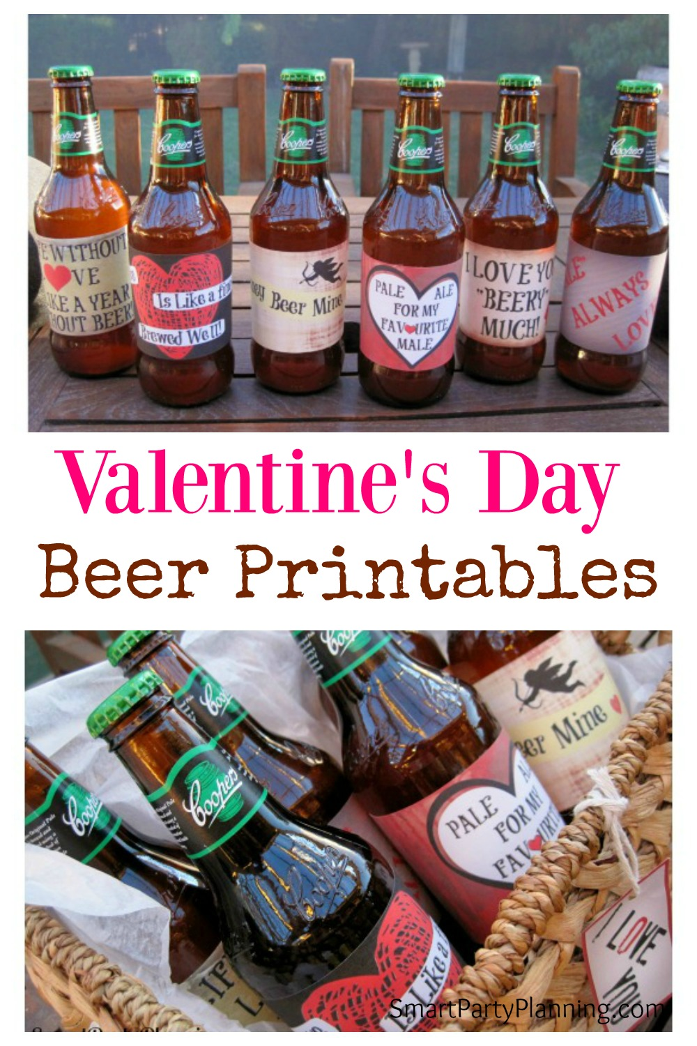 It is a photo of Gorgeous Free Printable Valentine Beer Labels