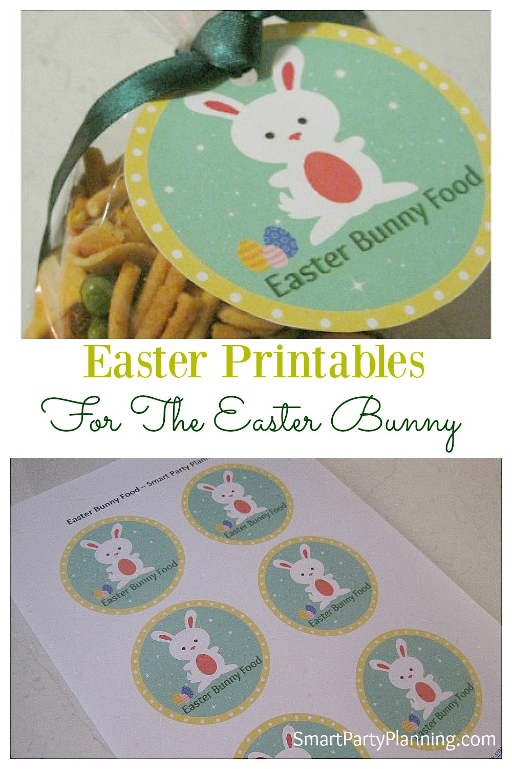 Looking for some DIY crafts to make with the kids this Easter? Print off these Easter printables for the Easter bunny and attach to a bag of food. The kids will delight in leaving out the bunny food the night before Easter. It's a fun activity to do with the kids.