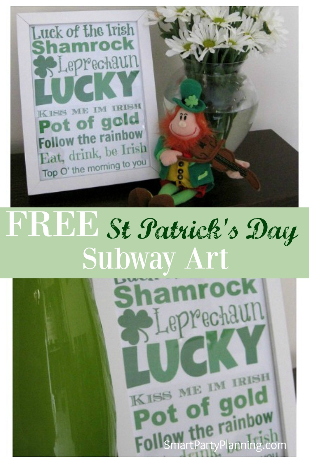 This FREE St Patrick's Day Subway art is sure to give the Irish spirit in your home. It's lovely home decor plus great to get out at parties.