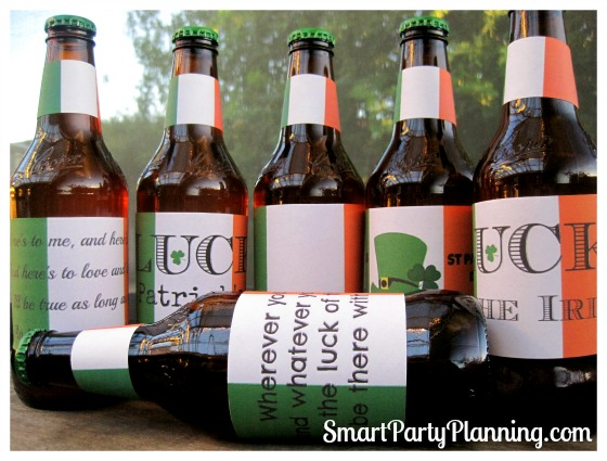 St Patrick's Day Printable Beer Labels