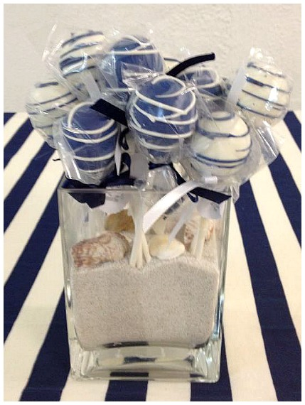Nautical Theme Baby Shower Cake Pops