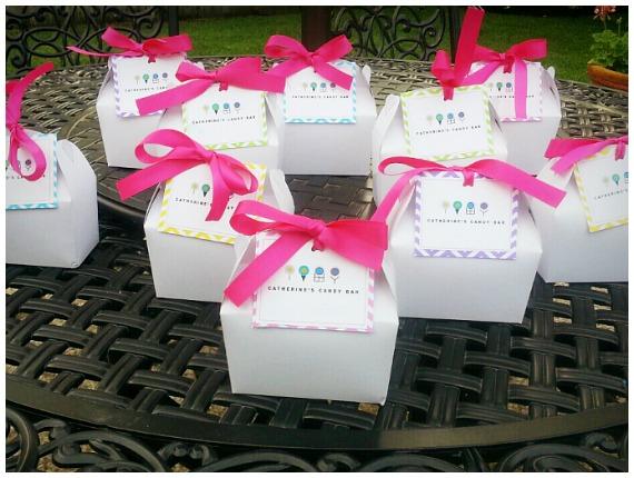 Spa party favor box's