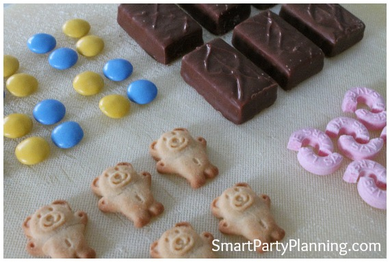 Ingredients to make tiny teddy cars