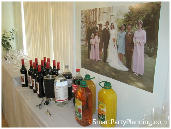 Ideas For A 40th Wedding Anniversary Party: 70s Theme Party 40th Wedding Anniversary