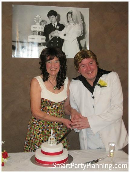 70's Theme Party 40th Wedding Anniversary