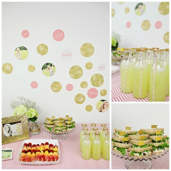 Girly glam graduation party
