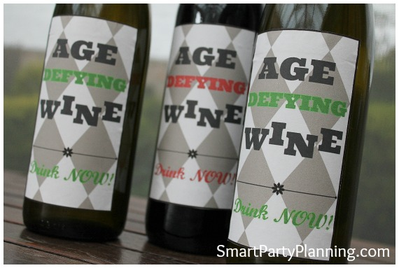 Birthday Age Defying Printable Wine Labels