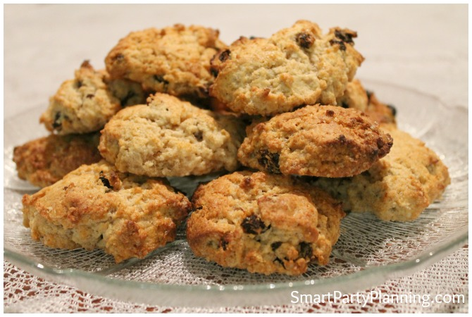 Plate of rock cakes