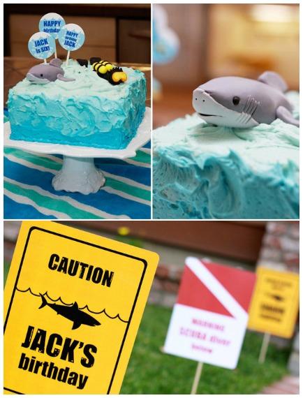 Scuba and shark birthday party