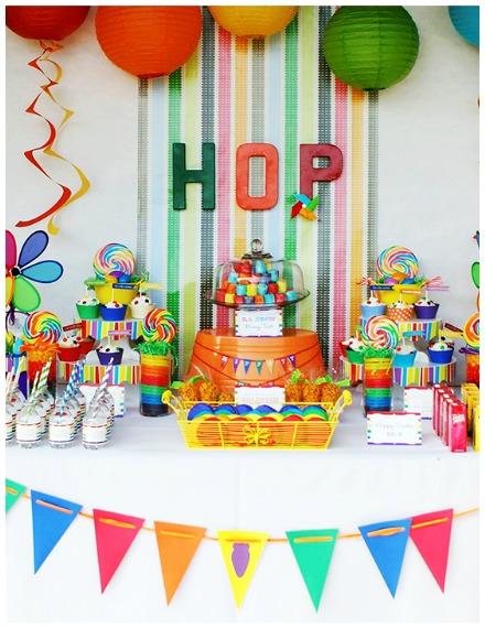 Rainbow party ideas Easter theme