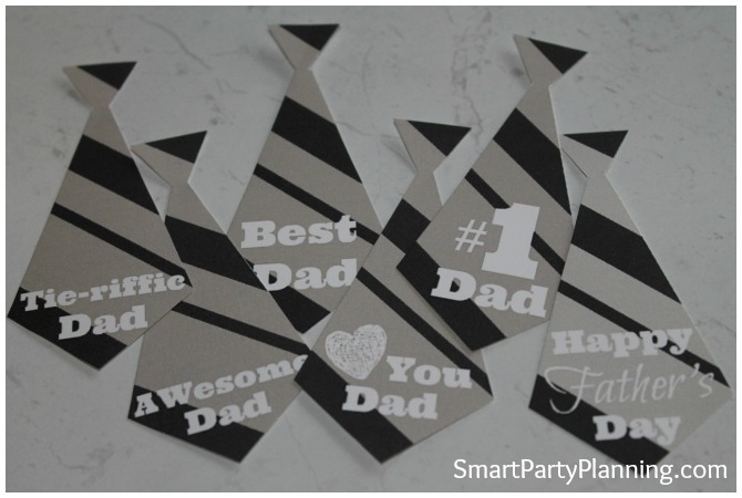Printable ties for Fathers Day