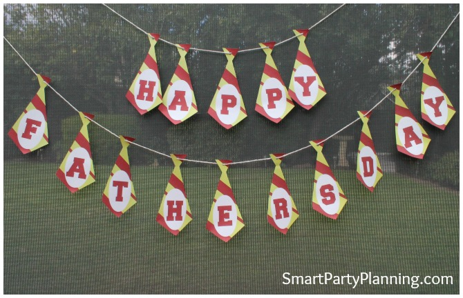 Retro Fathers Day Banner