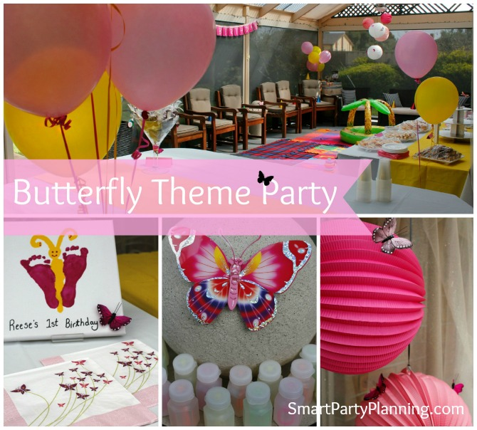 Butterfly Themed Birthday Party Invitations Butterfly Theme Party