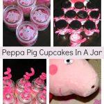 Collage Peppa Pig Cupcakes In A Jar
