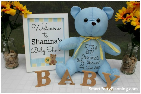 Teddy Bear Baby Shower Welcome Sign