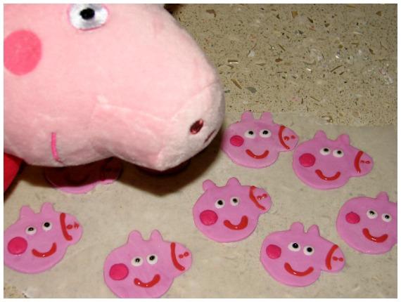 Peppa Pig Fondant Heads