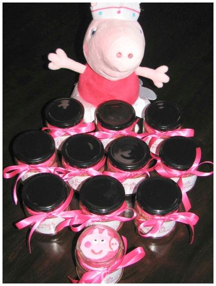 Peppa Pig Cupcakes In A Jar