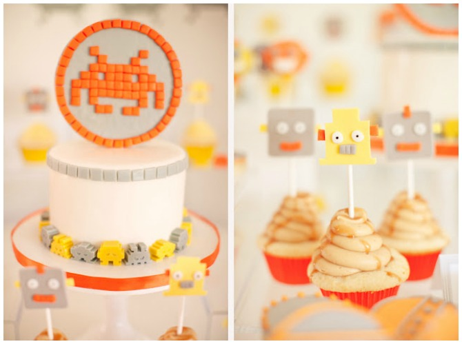 Baby Shower Robot Party