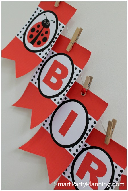 Ladybug printables banner