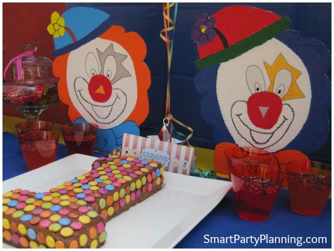 Carnival themed birthday party clowns