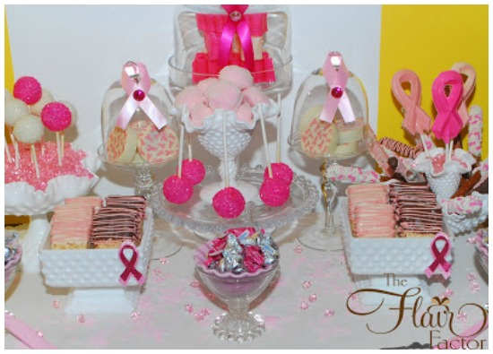 Breast cancer ribbon party