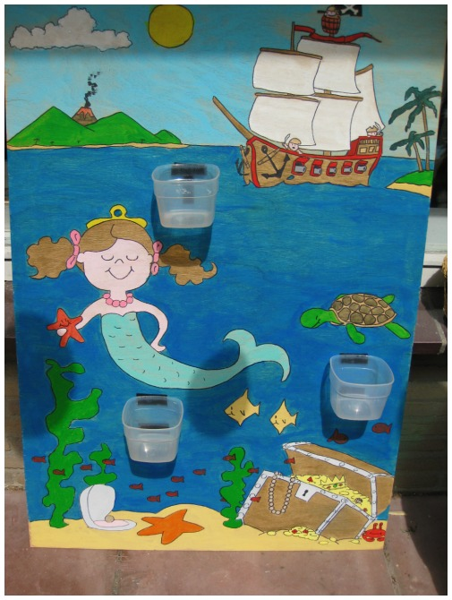 mermaid and pirate party game