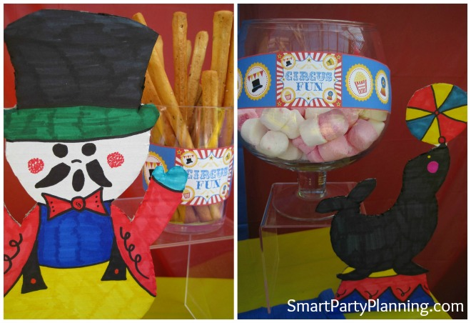 Carnival themed birthday party decorations