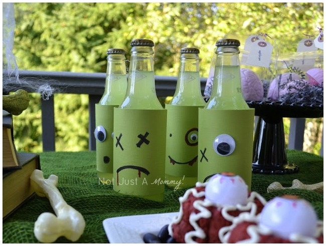 Zombie face drinks
