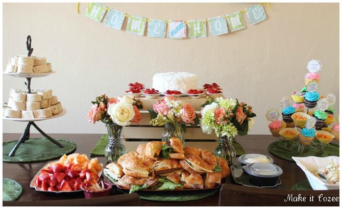 Bright and fresh house warming party table
