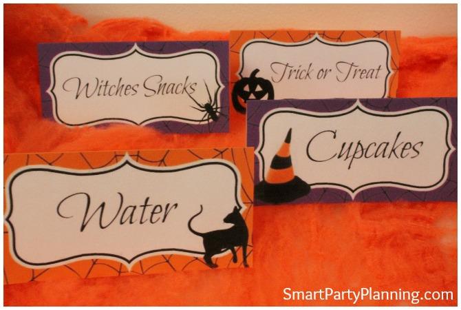 Halloween Food Tent Labels