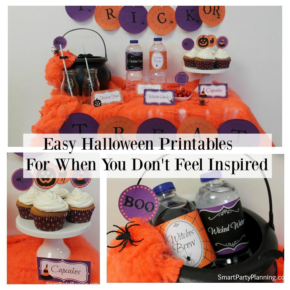 Easy Halloween Printables