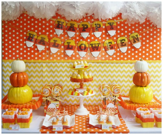 Halloween Party With Candy Corn