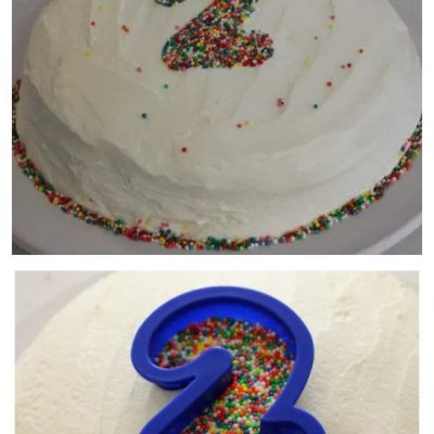 Easy 2nd Birthday Sprinkles Cake