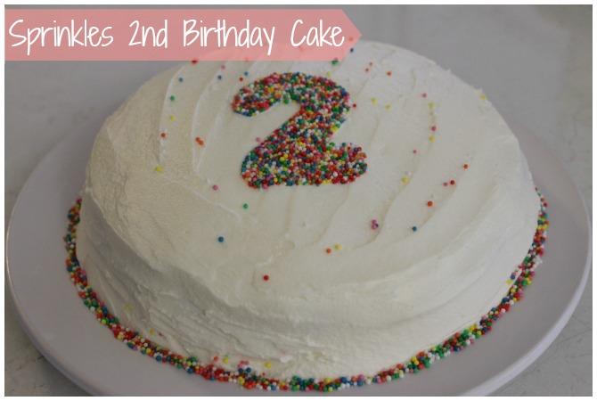 Sprinkles 2nd Birthday Cake