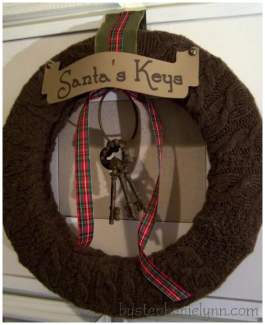 Santa's keys Christmas wreath