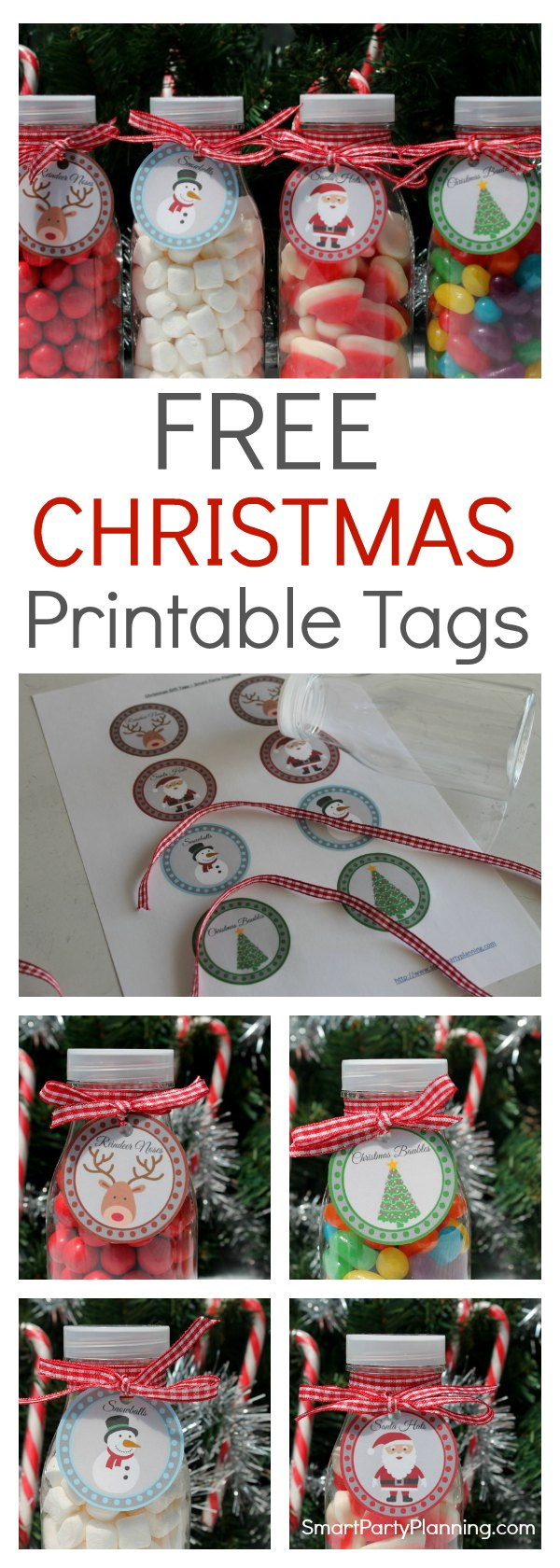 Download a set of 4 free printable Christmas tags, perfect for adding the Christmas spirit to gifts. Use them as either gift tags or cupcake toppers to spread the Christmas cheer.