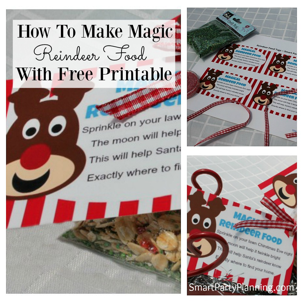 Not sure how to make reindeer food for Christmas eve? It's super easy and with this gorgeous free printable tag containing a reindeer poem. The kids will be so excited to leave the food for the reindeers. Add some extra sparkle on Christmas eve and start a new tradition with the kids. Download your free printable labels now.