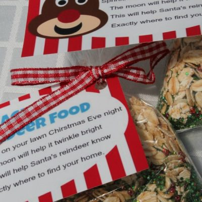 How To Make Magic Reindeer Food With Free Printable