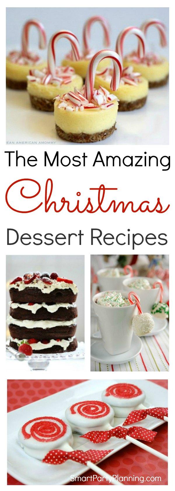 These Christmas dessert ideas will be loved by the entire family. Each recipe is quick and easy to make and will be perfect to serve up at Christmas parties. Prepare ahead of time and enjoy the season of entertaining.