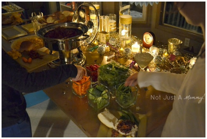 New Years Eve Glamour Party Food