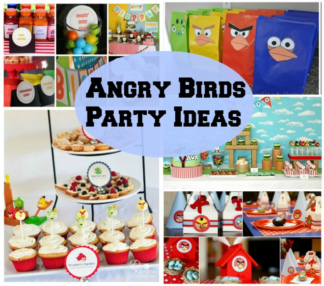 The gallery for homemade birthday decorations for Angry birds party decoration ideas