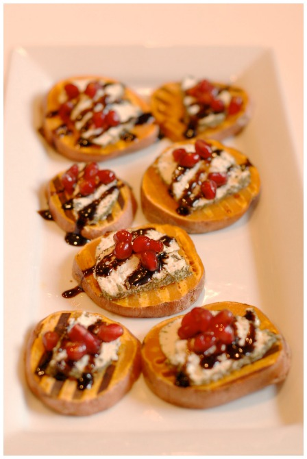 Healthy appetizers sweet potato brushetta