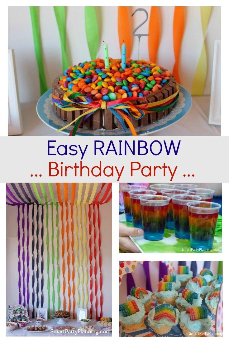 Easy Rainbow Birthday Party